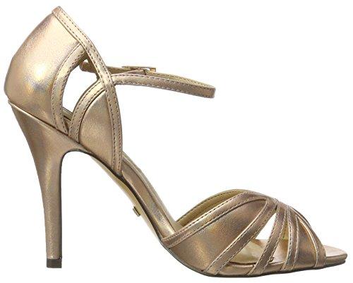 Buffalo Shoes Rk 1212-99 Metallic Pu, Sandalias con Cuña para Mujer Multicolor (Rose 23)
