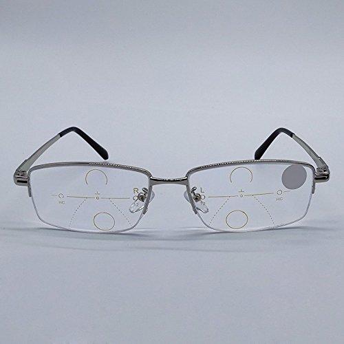ZREAL Lunettes pour lire Presbytes Lunettes de lecture intelligentes  Progressive Multifocal Lens Presbyopia Anti Fatigue Glasses d63e883fe4fc