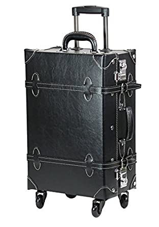 Amazon.com | MOIERG Vintage Trolley suitcase carry on Luggage TSA ...