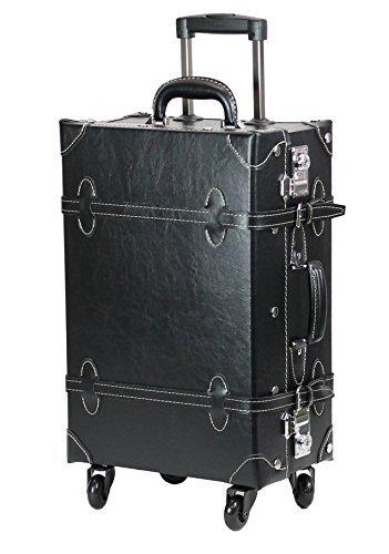 【COLOCOLO by MOIERG】Vintage Trolley Luggage TSA Black Medium (81-55039-10)