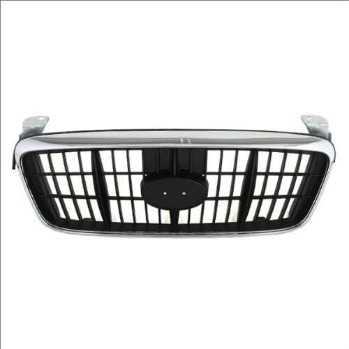 Grille Grill Assembly 4dr Sedan Chrome/Black Plastic Replacement, 400-22850 HY1200117?863502D070? ()