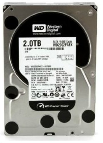 Western Digital Caviar Black 2 TB SATA III 7200 RPM 64 MB Cache Bulk/OEM Internal Desktop Hard Drive - WD2002FAEX by Western Digital