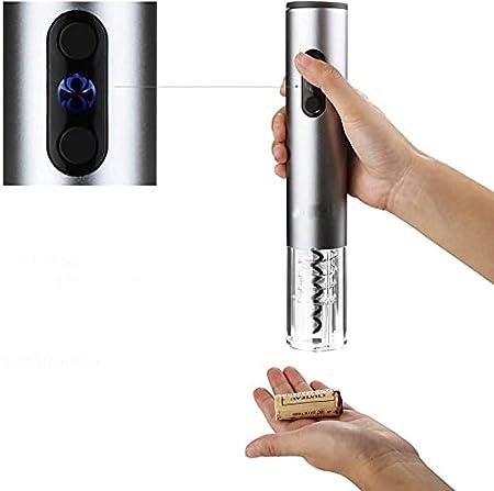 Sacacorchos eléctrico, sacacorchos de vino con cuchillo de aluminio, juego de regalo para los amantes del vino