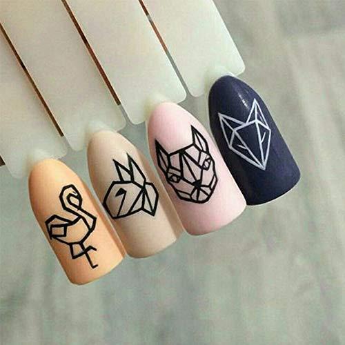 ZHUJING Pegatinas De Uñas 1 Unids Nail Art Etiqueta de ...
