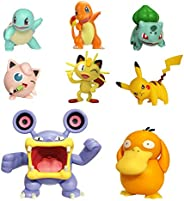 "PoKéMoN Battle Action Figure Multi 8 Pack - Comes with 2"" Pikachu, 2"" Bulbasaur, 2"" Squirtle, 2"" Charmander, 2"" Meowth, 3"" L"