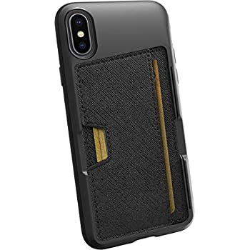 separation shoes 43e99 795ec Smartish iPhone X/XS Wallet Case - Wallet Slayer Vol. 2 [Slim Protective  Kickstand] Credit Card Holder for Apple iPhone 10s/10 (Silk) - Black Tie ...