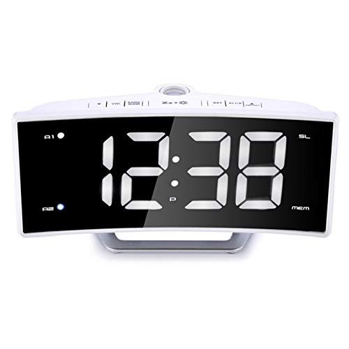 Sothat Reloj Despertador Radio FM Reloj Proyector de Mesa ...