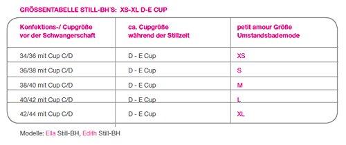 4894d94f6e2ea6 Petit Amour Damen Stillwäsche EDITH BH-Slip Set Größe S bis XL PA-LI ...