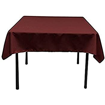 Peachy Ows 48 X 48 Inch Burgundy Square Polyester Table Cloth Table Cover Wedding Party Event 1 Pc Spiritservingveterans Wood Chair Design Ideas Spiritservingveteransorg