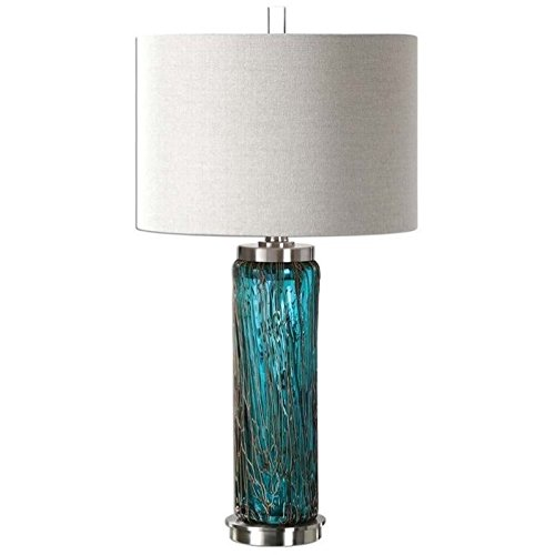 - Table Lamp in Blue Glass Finish