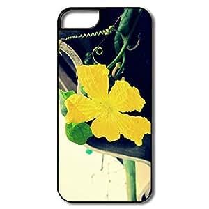 IPhone 5c Cases, Flower Covers For IPhone 5c - Whiteblack Hard Plastic