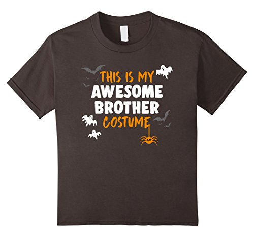 [Kids Awesome Brother Costume Shirt, Funny Brother Halloween Gift 10 Asphalt] (Awesome Brother Costumes)