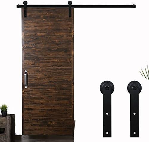 LWZH 12.6FT/383cm Herraje para Puerta Corredera Kit de Accesorios para Puertas Correderas,Negro I-Forma: Amazon.es: Bricolaje y herramientas