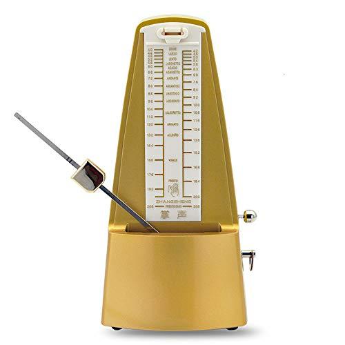 ZHANGSHENG X310 Mechanical Metronome for Piano, Guitar, Drums, Bass, Track Tempo & Beat, Instrument General-Purpose (Matte Gold)