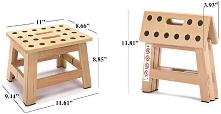 Jiodux Folding Step Stool - 8.8