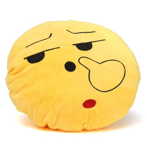 [dolly2u Yellow Round Cushion Soft Emoji Smiley Emoticon Stuffed Plush Toy Doll Pillow#Pick Nose] (Knife Throwing Circus Costumes)
