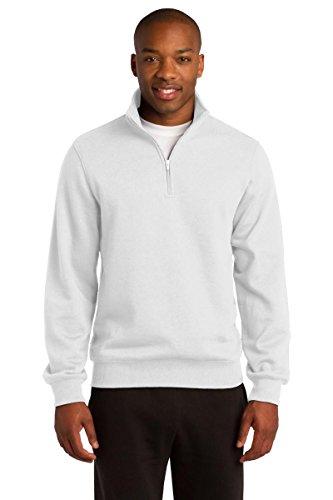 Sport-Tek Men's 1/4 Zip Sweatshirt L White - Sport Tek White Sweatshirt