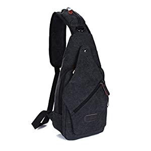 Amazon.com: Daosen Vintage Canvas Casual Travel Bag Sling Pack Bag ...