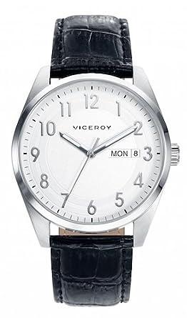 Viceroy Reloj Multiesfera para Hombre de Cuarzo con Correa en Cuero 46673-05: Amazon.es: Relojes
