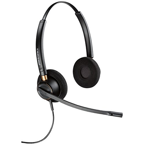 PLANTRONICS 89434-01 EncorePro HW520 Headset Stereo - Wired - Over-the-head - Binaural - Supra-aural - Noise Cancelling Microphone