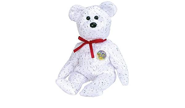 6244d13a197 Amazon.com  TY Beanie Baby - DECADE the Bear (White Version)  Toys   Games