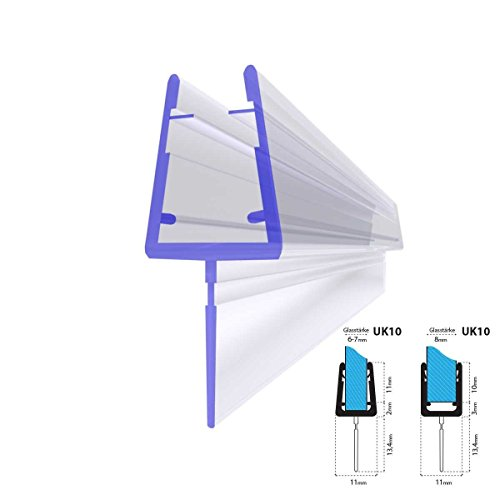 glass shower door seal 5 8 - 9