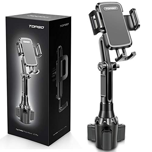 Car Cup Holder Phone Mount JC1 Pro Ver. Adjustable Long Pole Automobile Cup Holder Smart Phone Cradle Car Mount for…