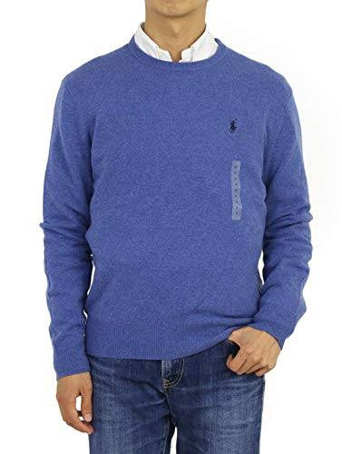 n's Crewneck Wool Sweater (XXL, Blue) ()