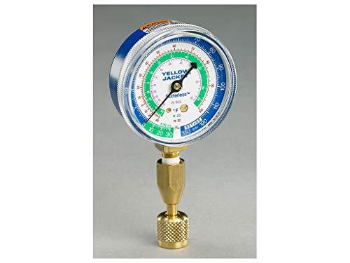 Yellow Jacket 40345 Blue Single Test Pressure Gauge (R22/R410A/R404A) W/12