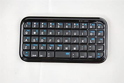 Eastchina® Negro Mini Bluetooth teclado inalámbrico para iPhone, iPad, iPAQ, PDA, Mac, Os, PS3, Droid, Smart Phones, PC, computers-android 3.0 + Tablets/Mac ...