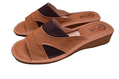 Natleat Slippers 16, Mädchen Damen Sandalen , Blau - blau - Größe: 36 EU