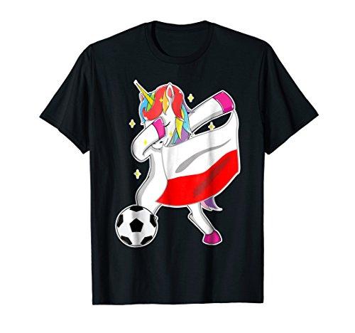 Poland Soccer Shirt Funny Dabbing Unicorn Flag (Poland Soccer T-shirt)