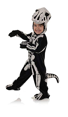 Underwraps Big Boy's Children's Fossil Dinosaur Costume - T-REX, Med Childrens Costume, Black/White, Medium ()