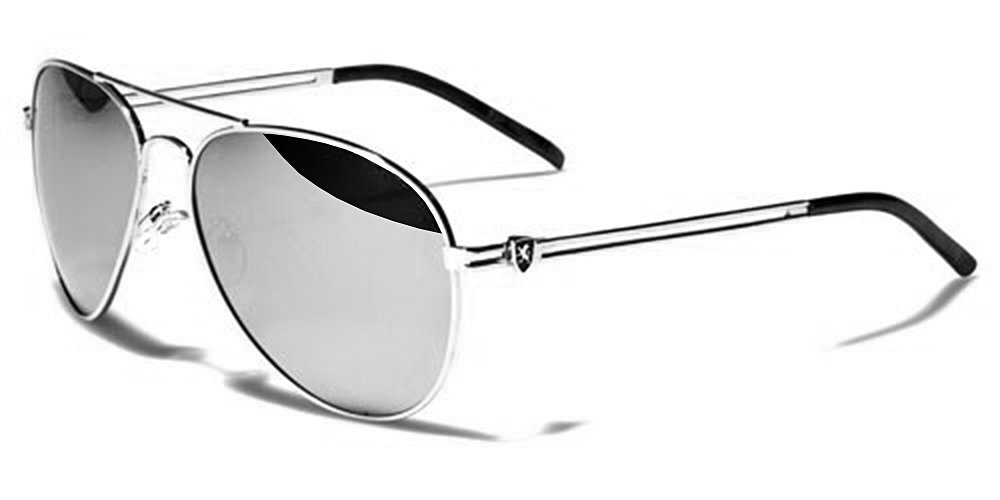 Khan Lunettes de Soleil Aviator Mode - Fashion - Conduite - Moto - Cyclisme  - Running - Voile - Protection   Mod. Classic Argent Miroir  Amazon.fr   Sports ... 1d1f8ef289b5
