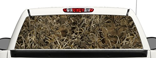 Grassland Camo Truck SUV Rear Window Graphic Decal Perforated Vinyl Wrap (Decals Camo Truck)