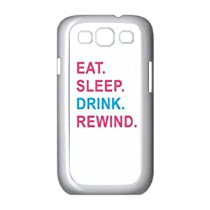 New Design Case for samsung galaxy s3 i9300 w/ Eat Sleep Rewind image at Hmh-xase (style 3)