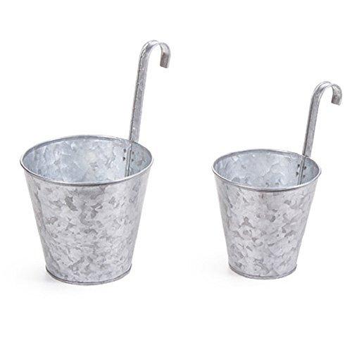 Darice, Galvanized Pot: 2 pieces