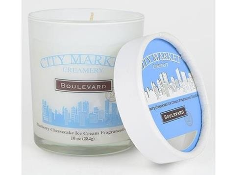 Boulevard 10 oz. Jar Candle City Market Blueberry Cheesecake