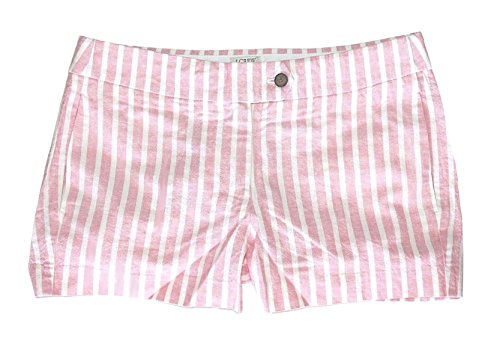 J. Crew Factory - Women's - Pink & White Striped Linen/Cotton Blend 3