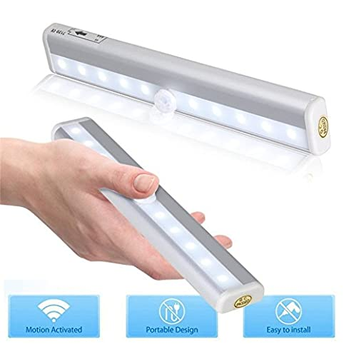 Diateklity Motion Sensing Closet Light DIY Stick On Anywhere Portable  10 LED Wireless Magnetic