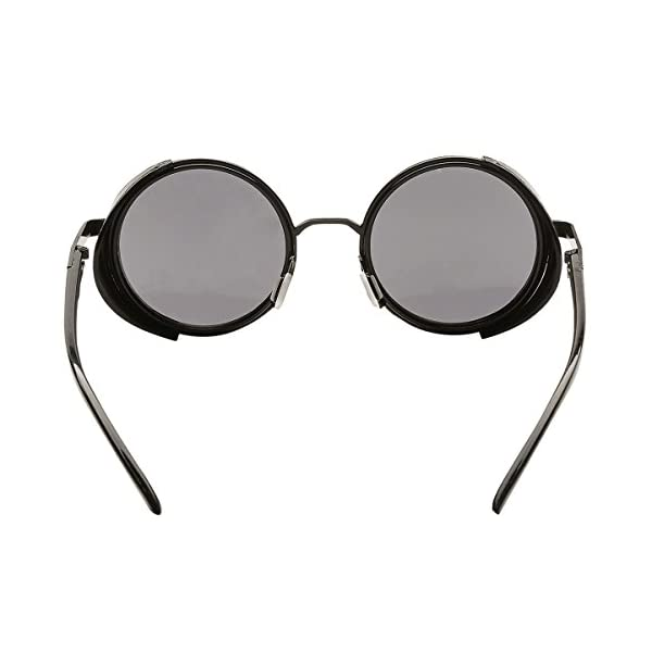 Dollger Steampunk Vintage Retro Round Sunglasses Metal Circle Frame 6