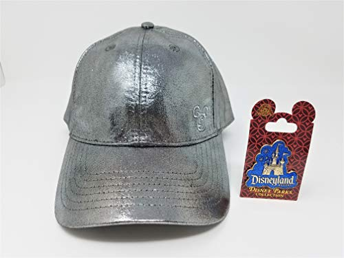 Disney Parks Mickey Mouse Silver Glitter Hat with Disneyland Sleeping Beauty Castle Pin