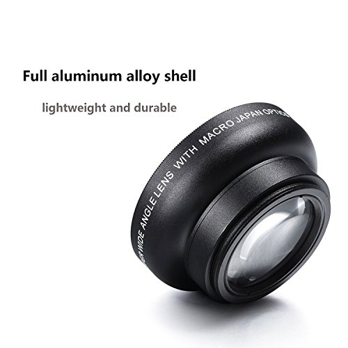 HCE Universal Professional HD Camera Lens Kit Detachable Wide Angle/Macro Lens for iPhone 6s / 6s Plus / 6 / 5s, ipad, Tablet PC, Smart Phone (0.45x Super Wide Angle Lens, 12.5x Super Macro Lens)