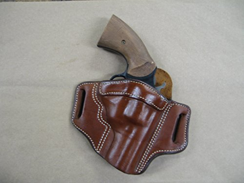 Azula Leather 2 Slot Molded Pancake Belt Holster for Smith & Wesson S&W K Frame 2
