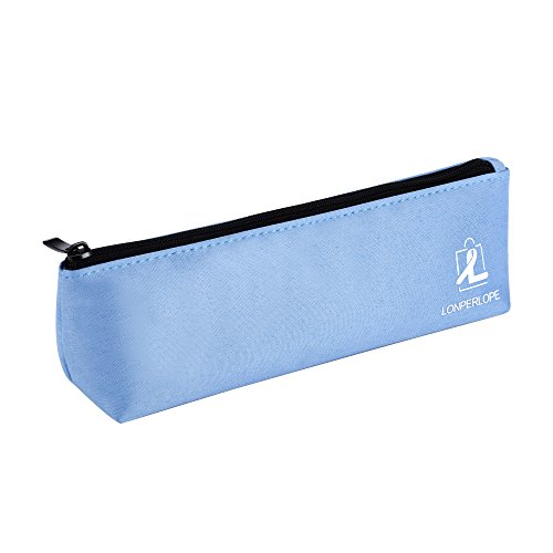 LonperLope Pencil Case - Big Capacity Pen Case Pencil Holder Cosmetic Pouch Bag with Durable Zipper for Pens, Pencils, Highlighters, Markers and Other School Supplies – Sky ()