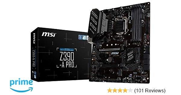 MSI Z390-A PRO LGA1151 (Intel 8th and 9th Gen) M 2 USB 3 1 Gen 2 DDR4 HDMI  DP CFX Dual Gigabit LAN ATX Z390 Gaming Motherboard