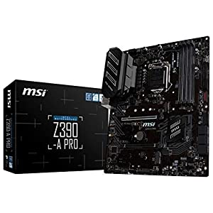 MSI Z390-A PRO LGA1151(Intel 8th and 9th Gen) M.2 USB 3.1 Gen 2 DDR4 HDMI DP Cfx Dual Gigabit LAN ATX Z390 Gaming…
