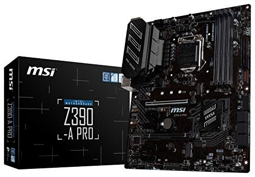 (MSI Z390-A PRO LGA1151 (Intel 8th and 9th Gen) M.2 USB 3.1 Gen 2 DDR4 HDMI DP CFX Dual Gigabit LAN ATX Z390 Gaming Motherboard)