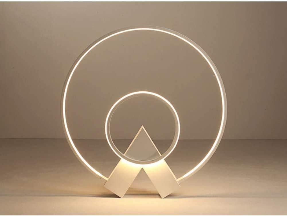 FYH LEDDimmable Techo de Tres Colores Luces, 2 Moderna lámpara Circular Anillo de Metal Pasillo baño lámpara LED de acrílico Decorativo Cocina de un Restaurante de Estar,Brown