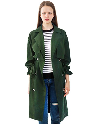 PRETTIGO Women Korean Coat for Women Green Coat (Women Korean Coats)